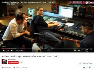 """Broilers im Studio bei den aufnahmen zu """"Noir"""""""