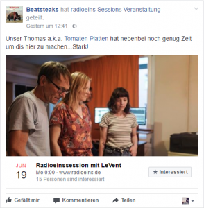 Facebook-Events: Auch für Radiopromotion gut