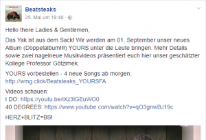 Musikvideo auf Facebook laden und YouTube-Links integrieren
