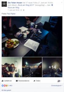 Einblick in den Backstage einer der erfolgreichsten deutschen Bands