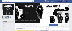 """""""Dezente"""" Promotion des Merchandise auf der Facebook Bandseite"""