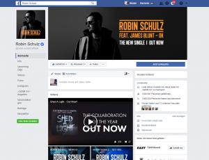 Robin Schulz Facebook Fanpage im Album-Design