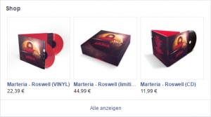 Das Materia Album Roswell auf Facebook kaufen