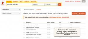 Suchbegriffe finden mit dem keywordtool.io