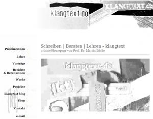 Blog: Musikmanagement, Dr. Martin Lücke