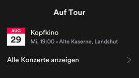 Tour auf Spotify anzeigen